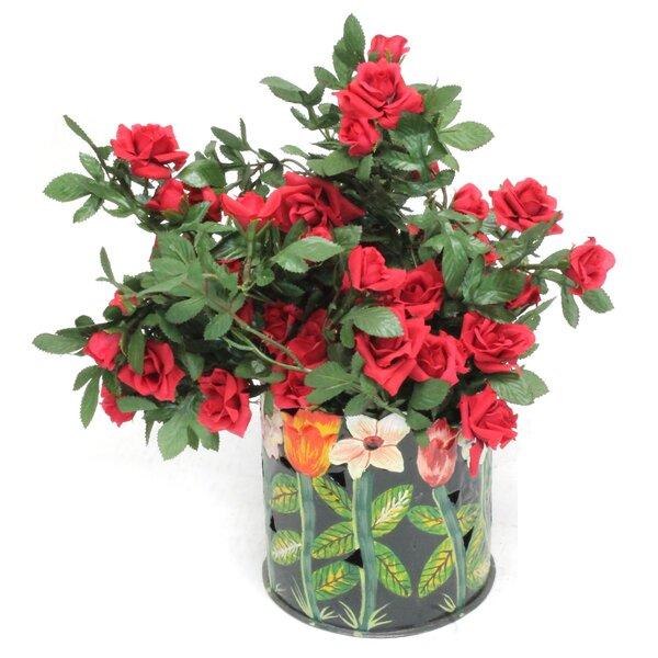 Mini Roses Floral Arrangements in Planter by Dalmarko Designs