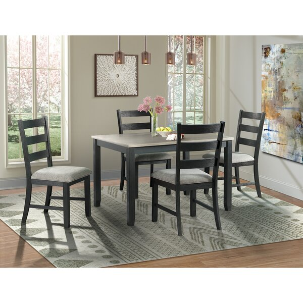 Mavis 5 Piece Solid Wood Dining Set by Alcott Hill