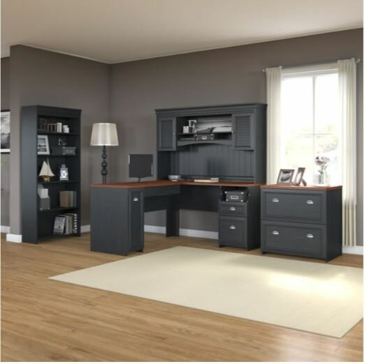 Oakridge 4 Piece Office Suite by Beachcrest Home