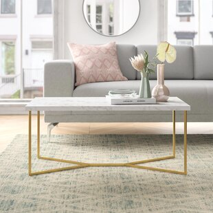 Devito Cross Legs Coffee Table with Storage by Foundstone