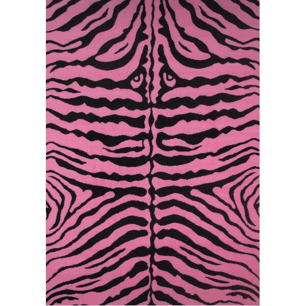 Fun Time Zebra Skin-Pink Area Rug by Fun Rugs