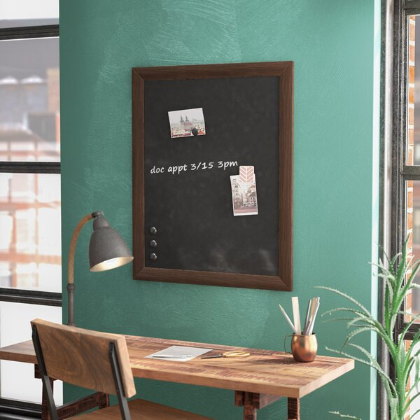 Framed Magnetic Wall Mounted Chalkboard by Union Rustic