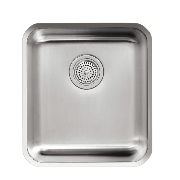 Undertone 15-3/4 L x 17-1/2 W x 9-5/8 Medium Squared Under-Mount Single-Bowl Kitchen Sink by Kohler