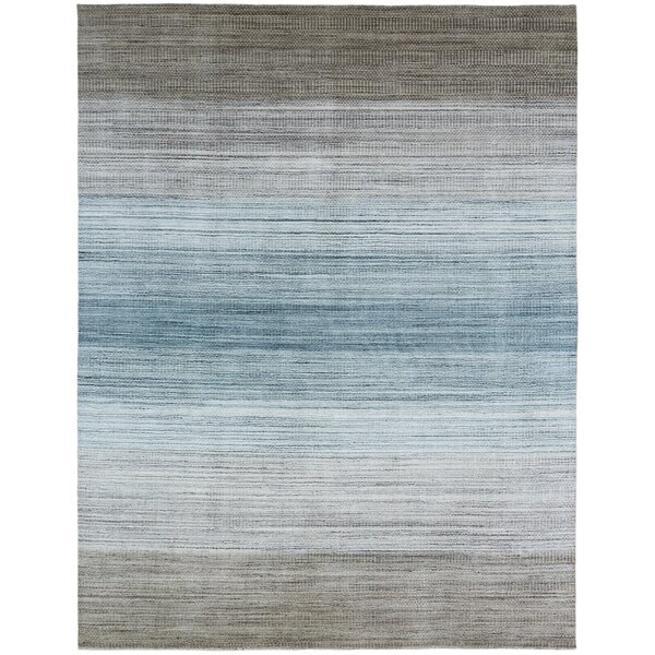 Madeley Handmade Wool/Silk Brown/Blue Area Rug by Highland Dunes