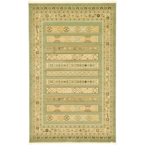 Foret Noire Light Green Area Rug by World Menagerie
