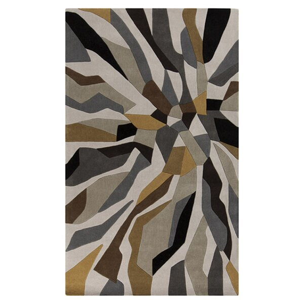 Conroy Bone Hand-Tufted Gray/Brown Area Rug by Wrought Studio