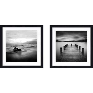 'Jetty' 2 Piece Framed Photographic Print Set by Loon Peak