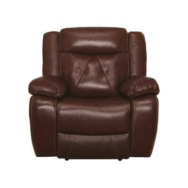 Gascon Leather Manual Recliner [Red Barrel Studio]