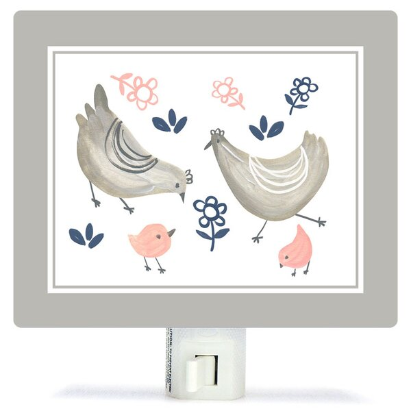 Non-Personalized Little Chickens Canvas Night Light by Oopsy Daisy