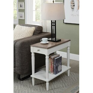 Best  Carlisle End Table With Storage Charlton Home