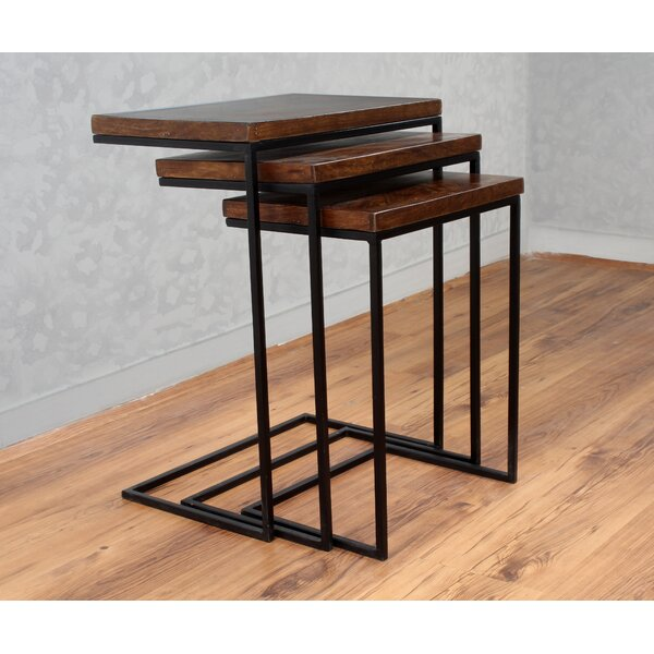 Sharell Mango Parquet 3 Piece Nesting Tables by 17 Stories