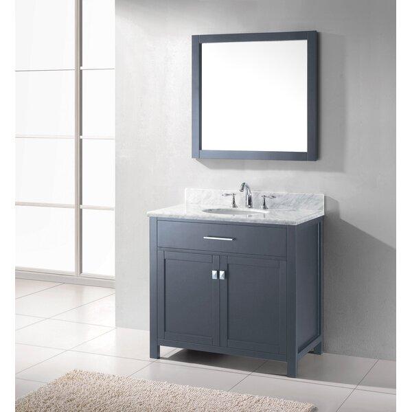 Kenilworth 36 Single Bathroom Vanity Set with Mirror by Highland DunesKenilworth 36 Single Bathroom Vanity Set with Mirror by Highland Dunes