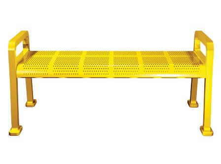 Perforated Metal Park Bench by Leisure Craft