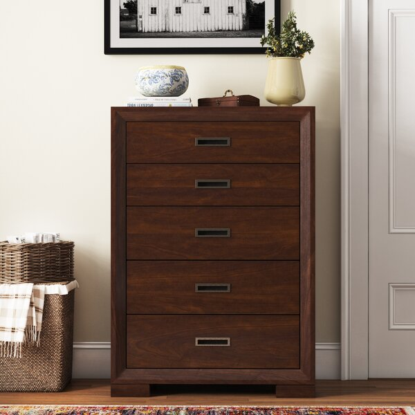 Diana Abelardo 5 Drawer Chest by Three Posts