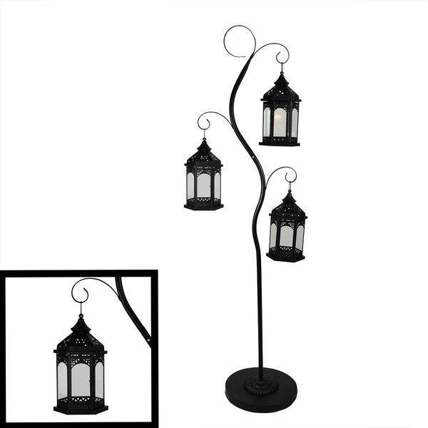 3 Piece Metal / Glass Lantern Set by Northlight Seasonal