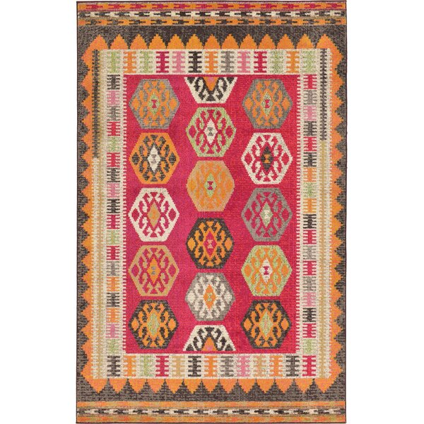 Phillips Red Area Rug by Bungalow Rose