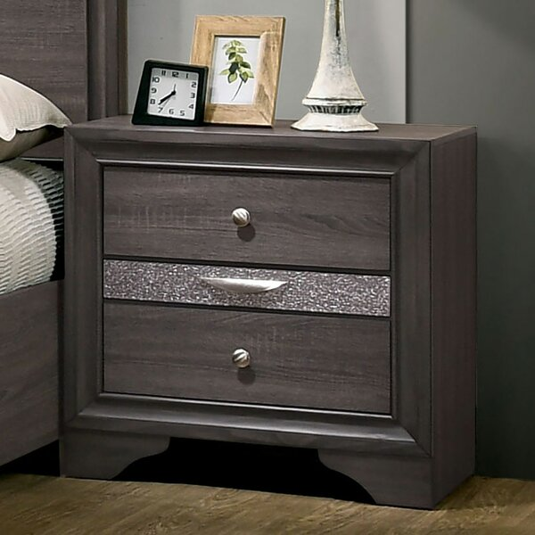 Andresen 3 Drawer Nightstand by Everly Quinn