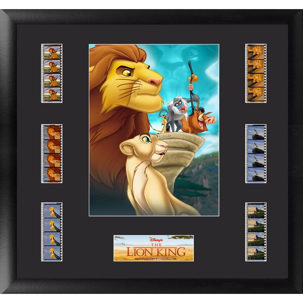 Lion King Montage FilmCell Presentation Framed Vintage Advertisement by Trend Setters