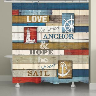 Top Reviews Burnham Nautical Anchor Inspiration Shower Curtain ByLongshore Tides