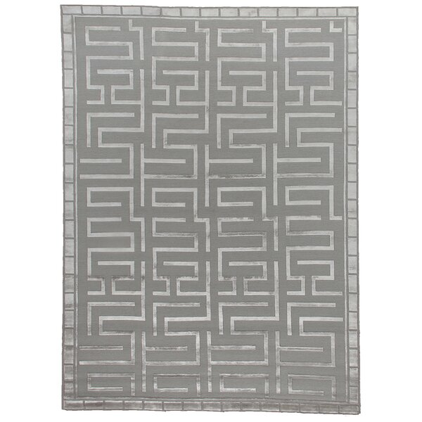 Thompson Hand-Knotted Wool Silver Area Rug by Exquisite Rugs