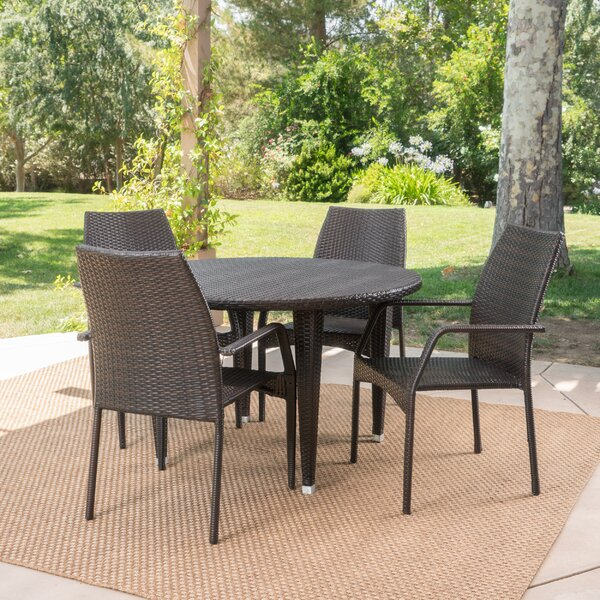 Wellfleet 5 Piece Dining Set by Alcott Hill