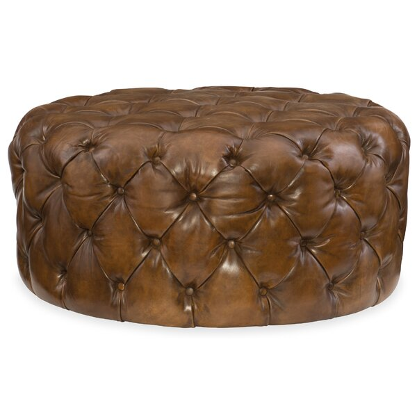 Hazel Leather Cocktail Ottoman by Hooker Furniture
