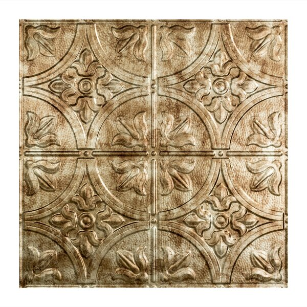 Traditional 2 2 ft. x 2 ft. Drop-In Ceiling Tile in Bermuda Bronze by Fasade