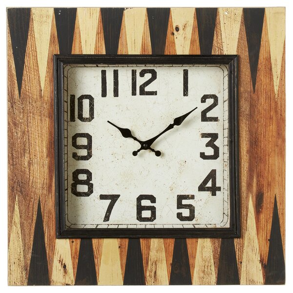 Guerin Backgammon Wall Clock by Gracie Oaks