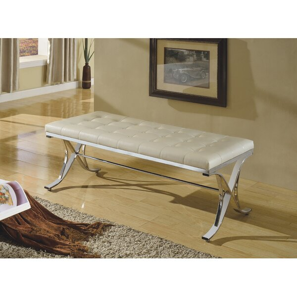 Maddock Elegant Upholstered Bench by House of Hampton
