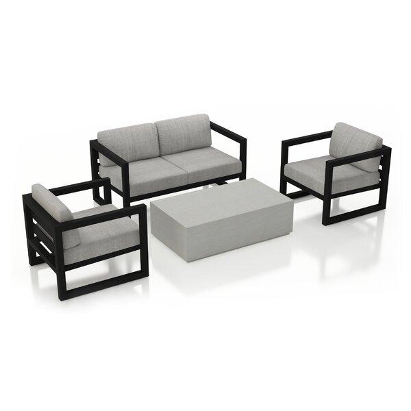Remi 4 Piece Sofa with Sunbrella Cushions