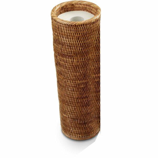 Efren Round Rattan Freestanding Toilet Paper Holder by Mistana