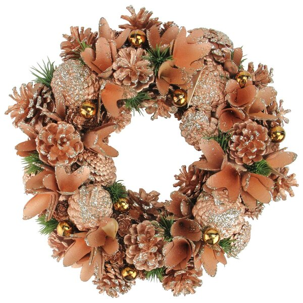 Autumn Harvest Pine Cone Artificial Thanksgiving 13 Wreath by The Holiday Aisle