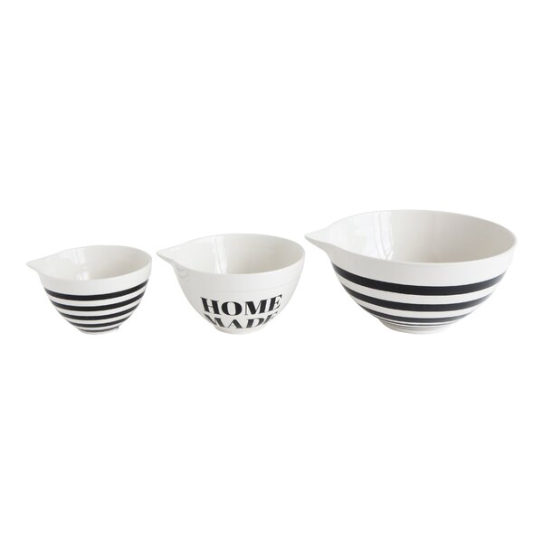 Callan 3 Piece Stoneware Mixing Bowl Set by Mint Pantry