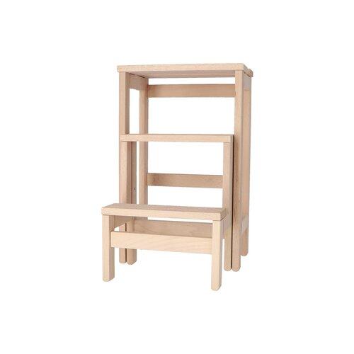 3-stufiger Tritthocker Blomkest aus Holz Brambly Cottage Farbe: Beige | Flur & Diele > Garderoben > Garderobenbänke | Brambly Cottage
