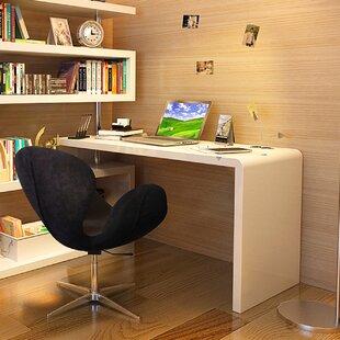 Waxman L-Shape Credenza desk with Bookcase