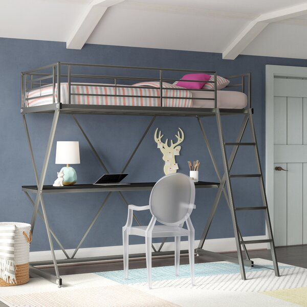 Kropf Workstation Loft Bunk Bed with Desk by Viv + Rae