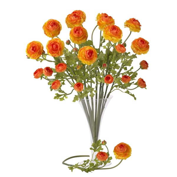 23 Ranunculus Floral Arrangement (Set of 12) by Nearly Natural