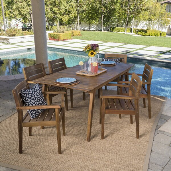 Brien 7 Piece Dining Set by Modern Rustic Interiors