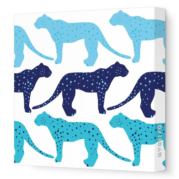 Animals Cheetah Stretched Canvas Art by Avalisa