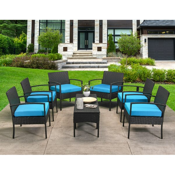 Profile 7 Piece Rattan Multiple Chairs Seating Group with Cushions by Latitude Run