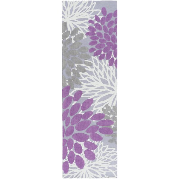 Odele Lavender/Gray Area Rug by Ebern Designs