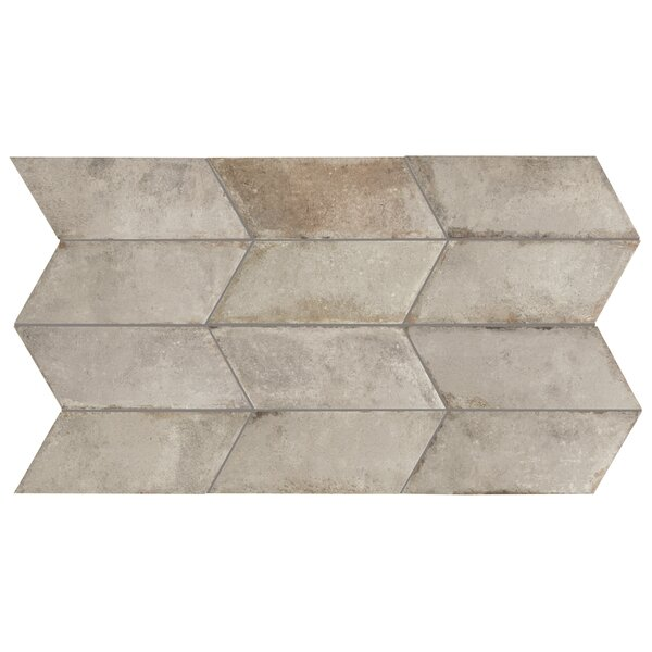 Relic Chevron Right 5.5 x 12.75 Porcelain Field Tile in Grigio by EliteTile
