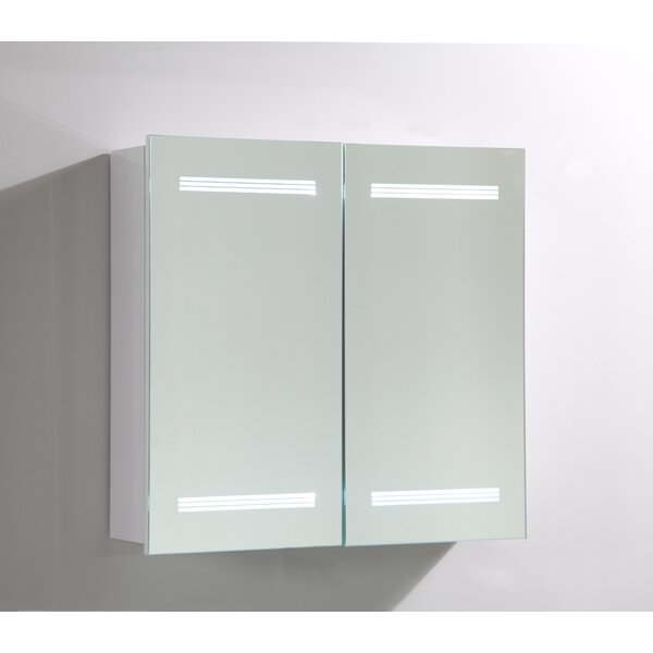 26 x 25 Surface Mount Medicine Cabinet with LED Lighting by Vanity Art
