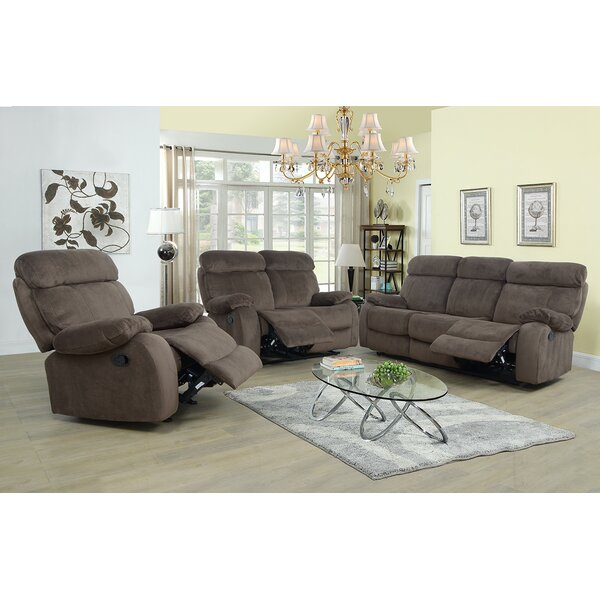 Evins Reclining 3 Piece Living Room Set by Winston Porter