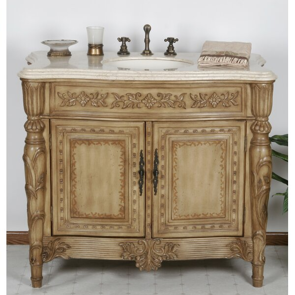 Miami 42 Single Bathroom Vanity Set by B&I Direct Imports