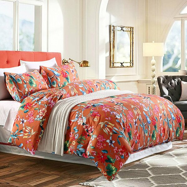 flowers green cover flat egyptian sets size queen dark item bedlinens duvet king customized cotton bedding floral