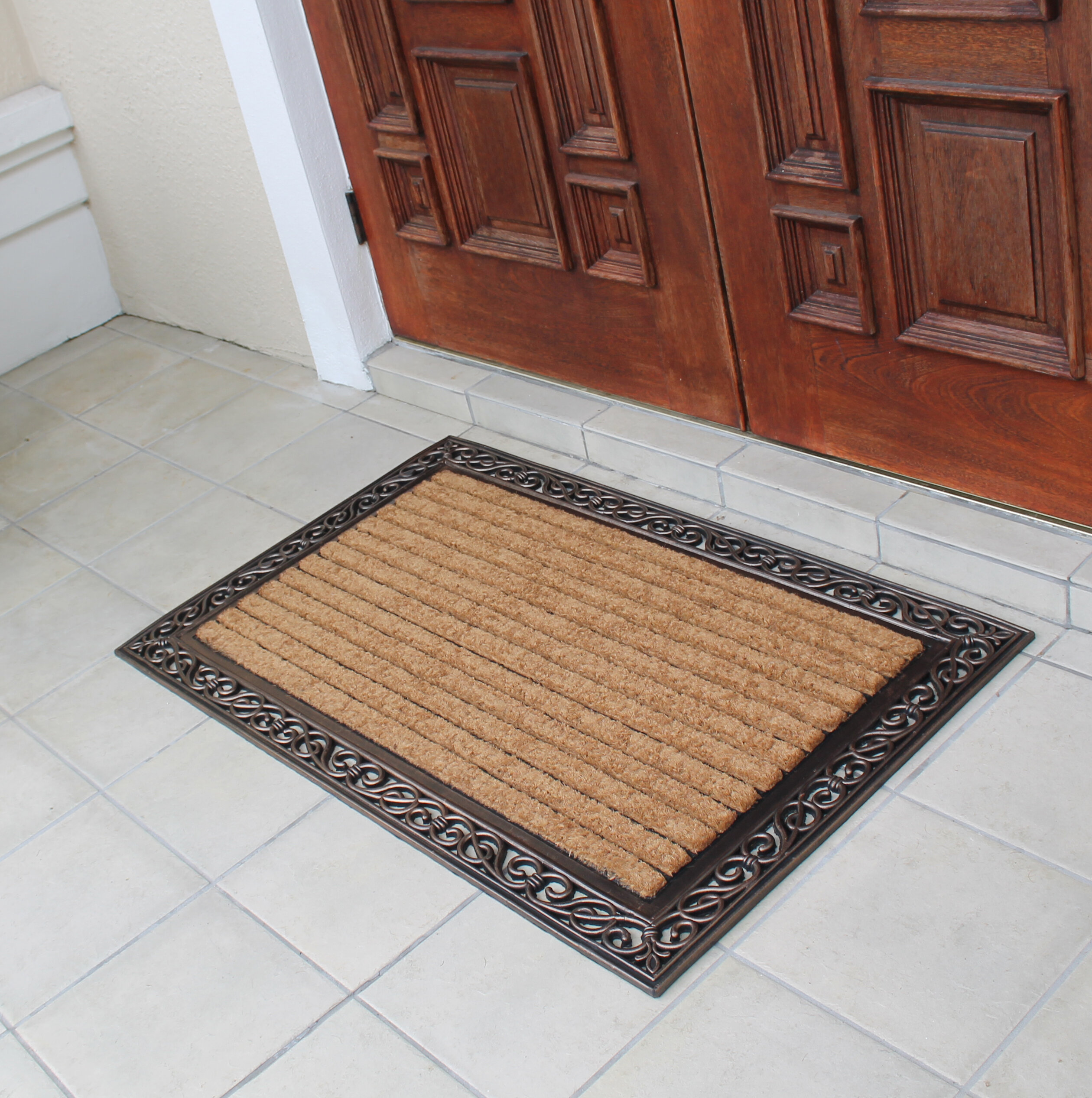 door coir mat and rubber monogrammed products myla