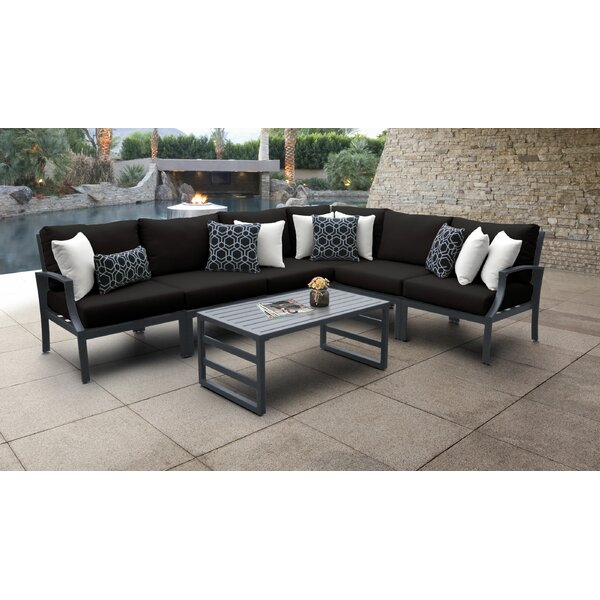 Benner 7 Piece Sectional Seating Group with Cushions by Ivy Bronx