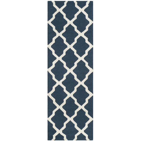 Parker Lane Hand Tufted Navy Area Rug by Darby Home Co