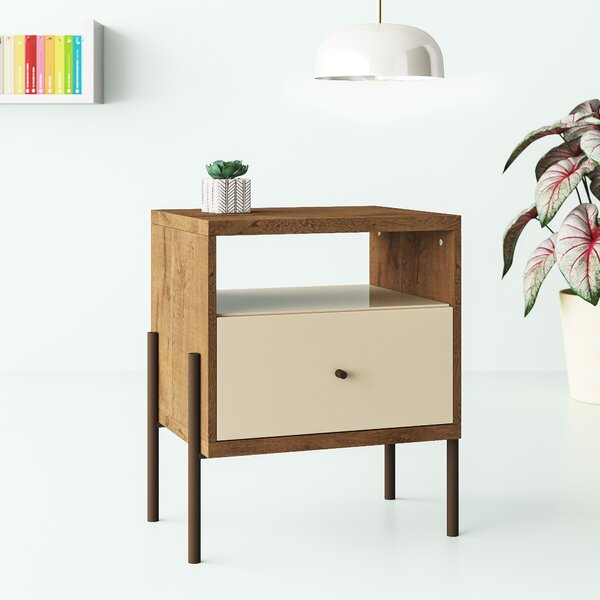 Alviso 1 Drawer Nightstand by Hashtag Home